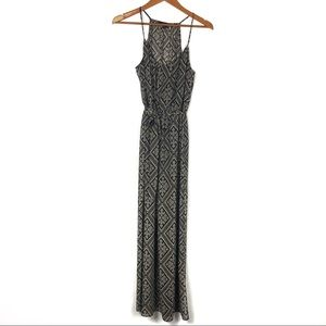 black and tan maxi dress by Forever 21 size M